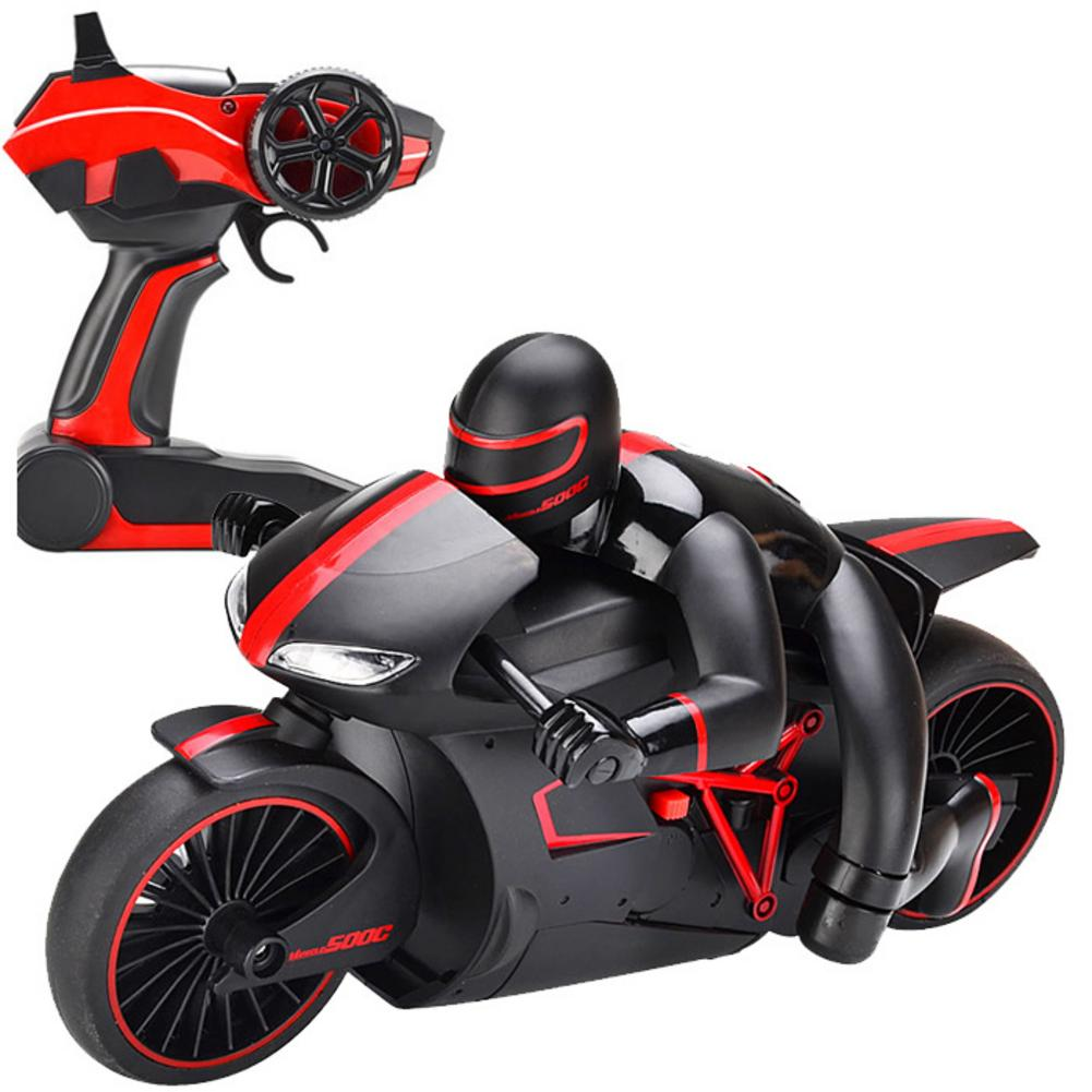 2.4G Mini RC Motorcycle with Cool Light High Speed Motorbike Model Toy Remote Control Drift Motor Gifts for Boy Children
