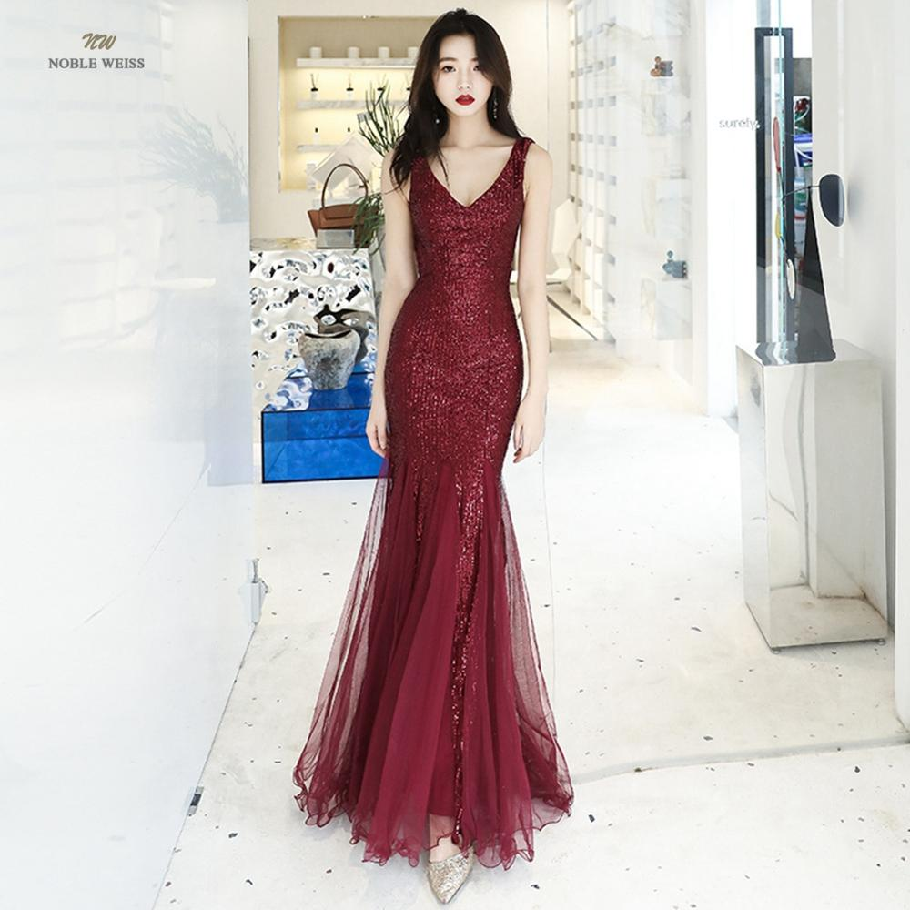 prom dresses sexy v-neck mermaid sequin prom dress long prom gown robe de soiree party dress