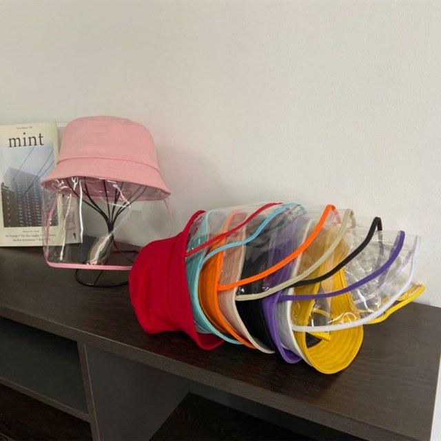 Kids Dustproof Anti Spitting Protective Mask Visor Hat Face Shield Fisherman Outdoor windproof dustproof insectproof sun Cap 2