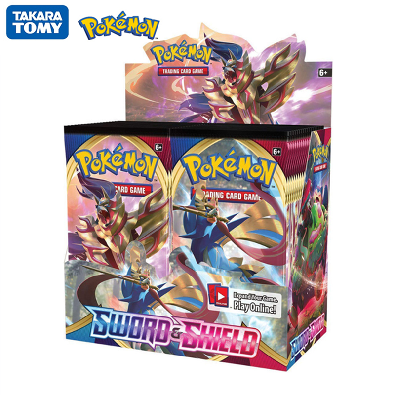 324Pcs/Box Newest Pokemon Cards  Sword & Shield Trading Card Game Evolutions Booster Box English Collectible Card Kids Toys Gift