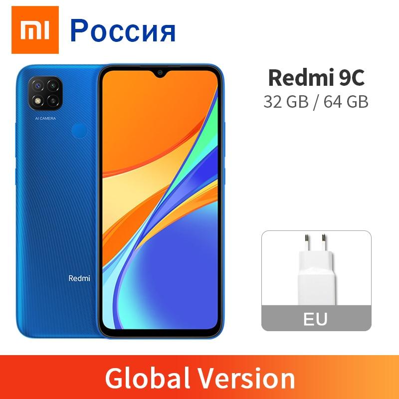 """Versão global xiaomi redmi 9c 2gb 32gb/3gb 64gb 9 c telefone móvel 13mp câmera traseira mtk helio g35 6.53 """"grande exibição 5000mah"""