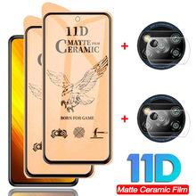 11D, miękkie matowe ceramiczne szkło hartowane poco x3 nfc ochraniacz ekranu mi pocophone x 3 xiaomi poco x3 nfc folia na aparat fotograficzny poco x 3 nfc screen protector poco x3 glass
