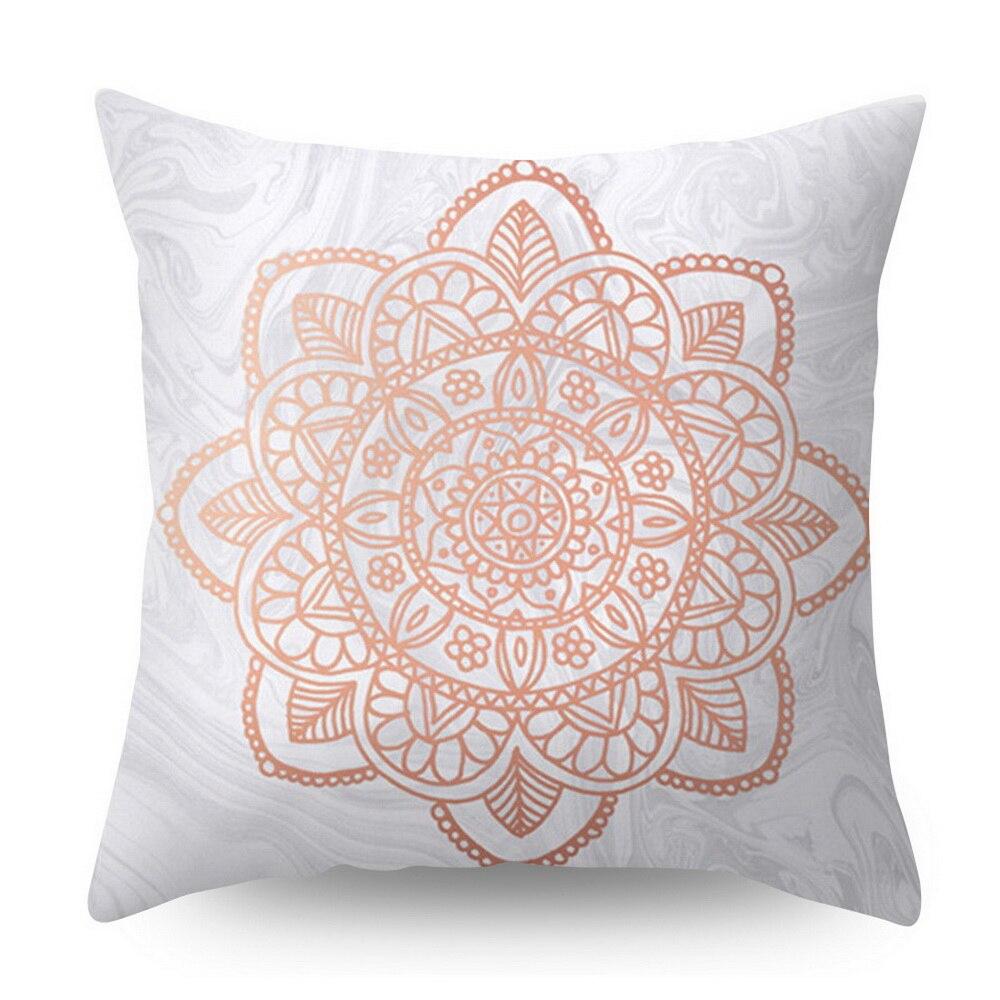 Розовое золото квадратная подушка крышка с геометрическим рисунком сказочной подушка чехол полиэстер декоративная наволочка для подушки для домашнего декора размером 45*45 см - Цвет: Бежевый
