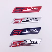 3D Etiqueta Do Carro de Metal R Linha Do Emblema do Emblema Decalques para Ford Focus X Vignale F-150 ST Linha EcoBoost Mondeo Fuga 245 330 Explorer