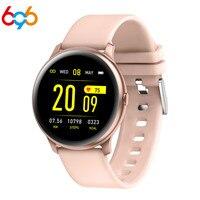 Tüketici Elektroniği'ten Akıllı Saatler'de KW19 akıllı saat Kadın nabız monitörü Kan Basıncı Smartwatch Su Geçirmez Erkekler Spor spor takip saati akıllı bilezik