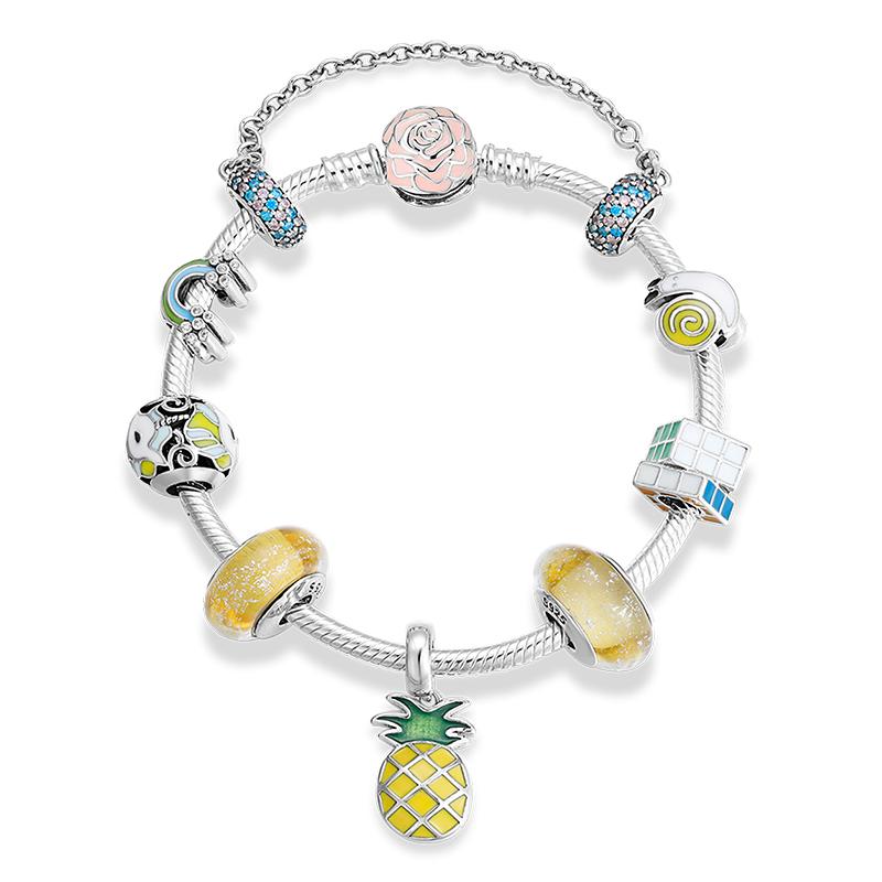 925 Sterling Silver Plain Pineapple Fruit Tropical Summer Ring
