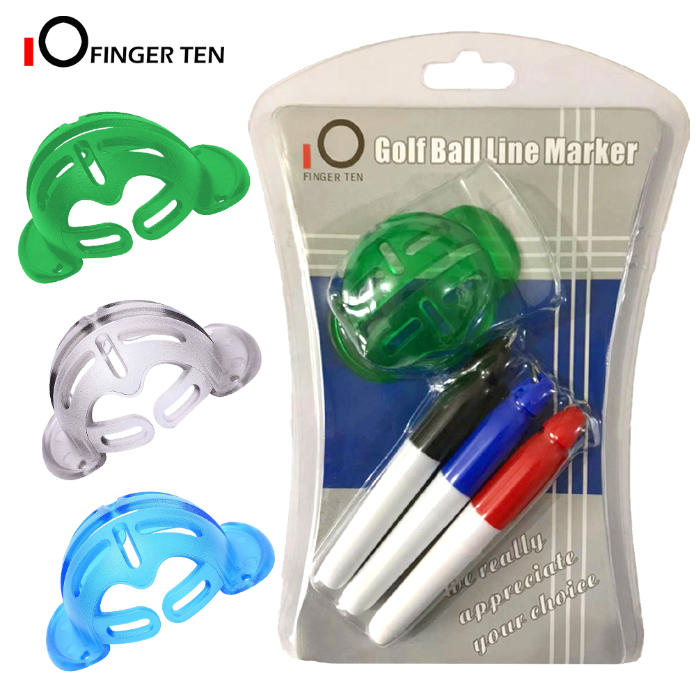 Golf Ball Liner Template Drawing Marking Spot Liner Alignment Putting Tool With 3 Marker Pens