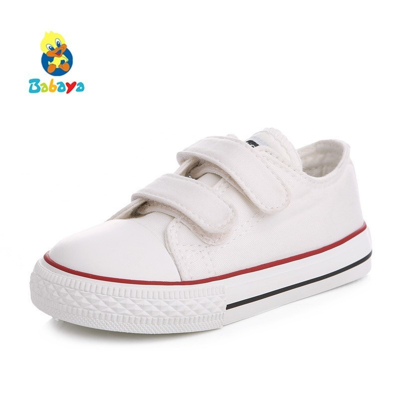 Baby Kids Shoes For Girl Children Canvas Shoes Boys 2019 New Spring Summer Girls Sneakers White Fashion Toddler Shoes