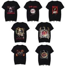2020 New SLAYER T Shirt mężczyźni/kobiety lato 100% bawełniana koszulka z krótkim rękawem czarne bluzki koszulki Rock Style, graficzna koszulka z krótkim rękawem