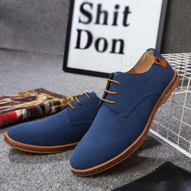 DBTX Casual Shoes Men Fashion Flock Men Casual Shoes High Quality Suede Casual Men Shoes Spring Men Sneakers Big Size 38-48