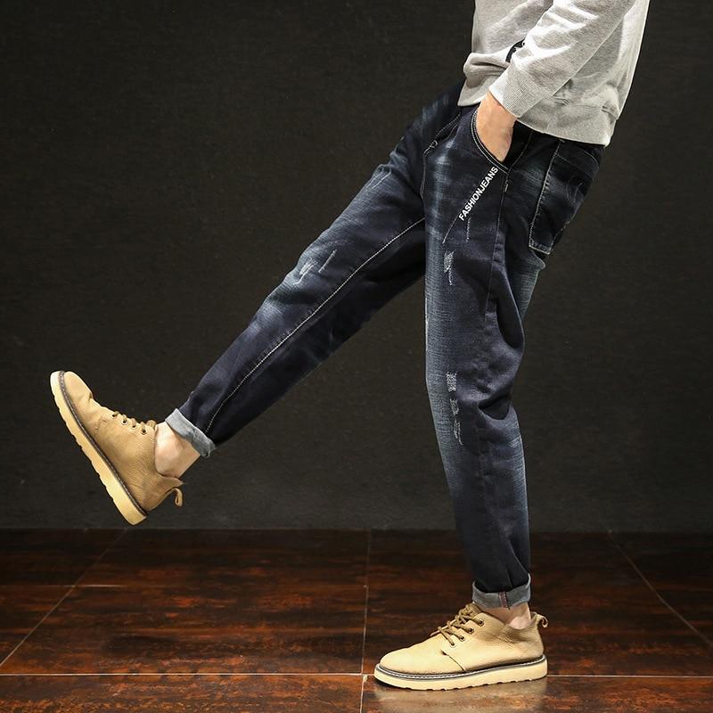 VODOF Brand Jeans Retro Nostalgia Straight Denim Jeans Baggy Jogger Casual Trousers Men Plus Size 42 44 46 48  Haren Pants