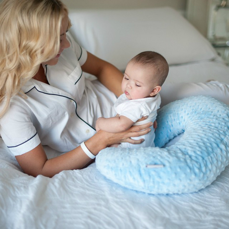 Infant Baby Care Pillow Cover Nursing Newborn Baby Breastfeeding Pillow Cover Nursing Slipcover Protector Washable Cover Cushion
