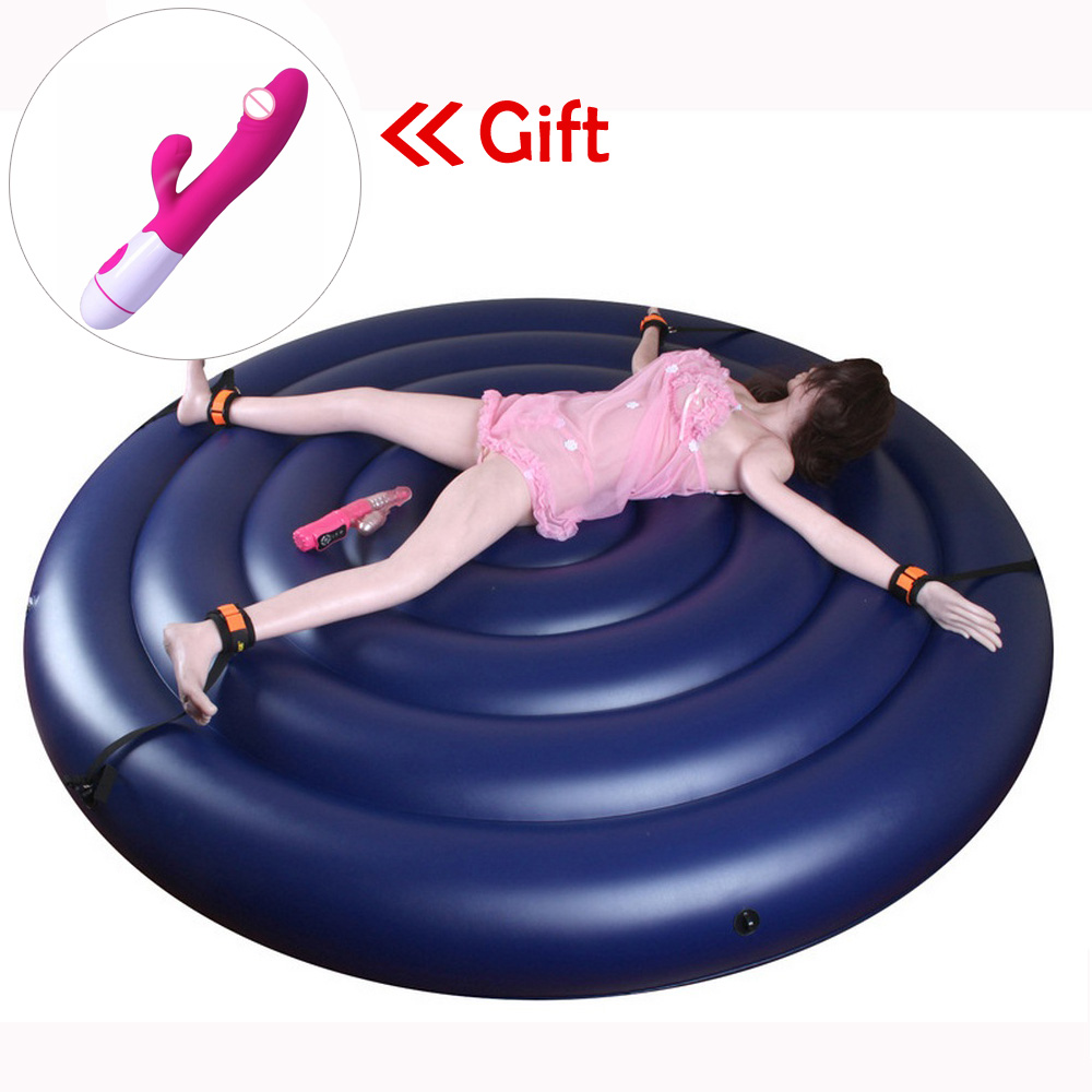 TOUGHAGE Inflatable Round Bed Sex Furniture Chair Sofa Sex Toys For Couples Adult Toys BDSM Bed Sex Chair Pillow