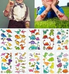 10pcs Dinosaur Tyrannosaurus Temporary Tatoo Sticker Waterproof Fake Tattoo Tattoos Hand Foot Tatouage For Kids Children Boy