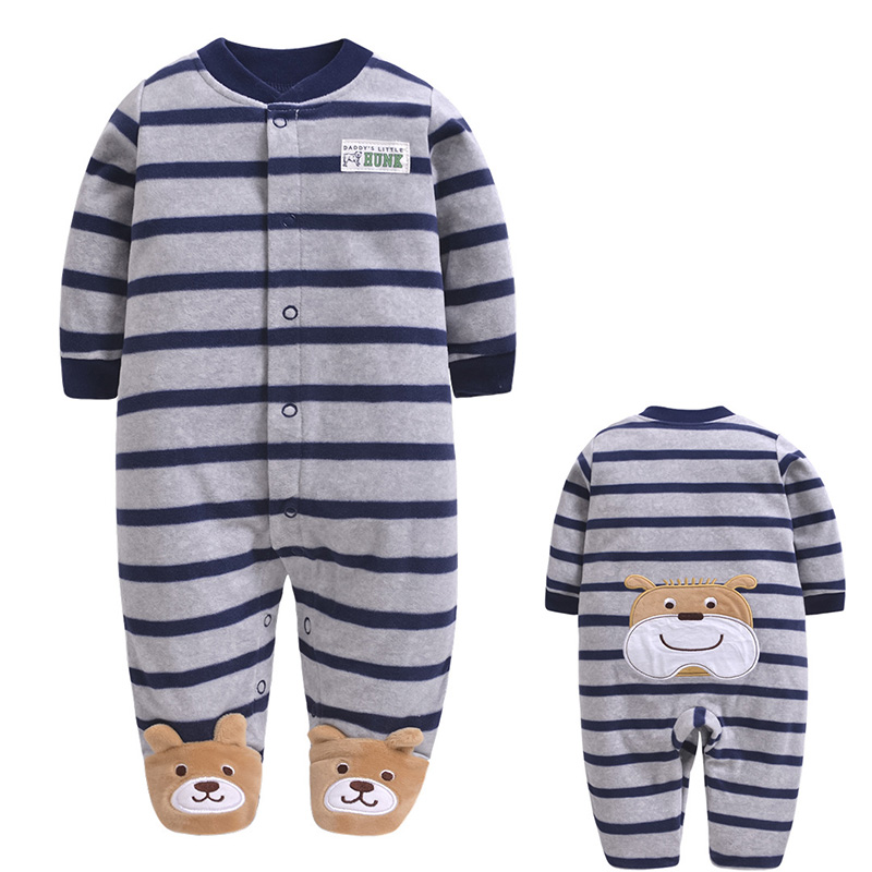 Kids Toddler   Romper   Baby   Romper   Autumn Winter Girls Long Sleeve Striped Children Casual Jumpsuits Boys Cartoon   Rompers