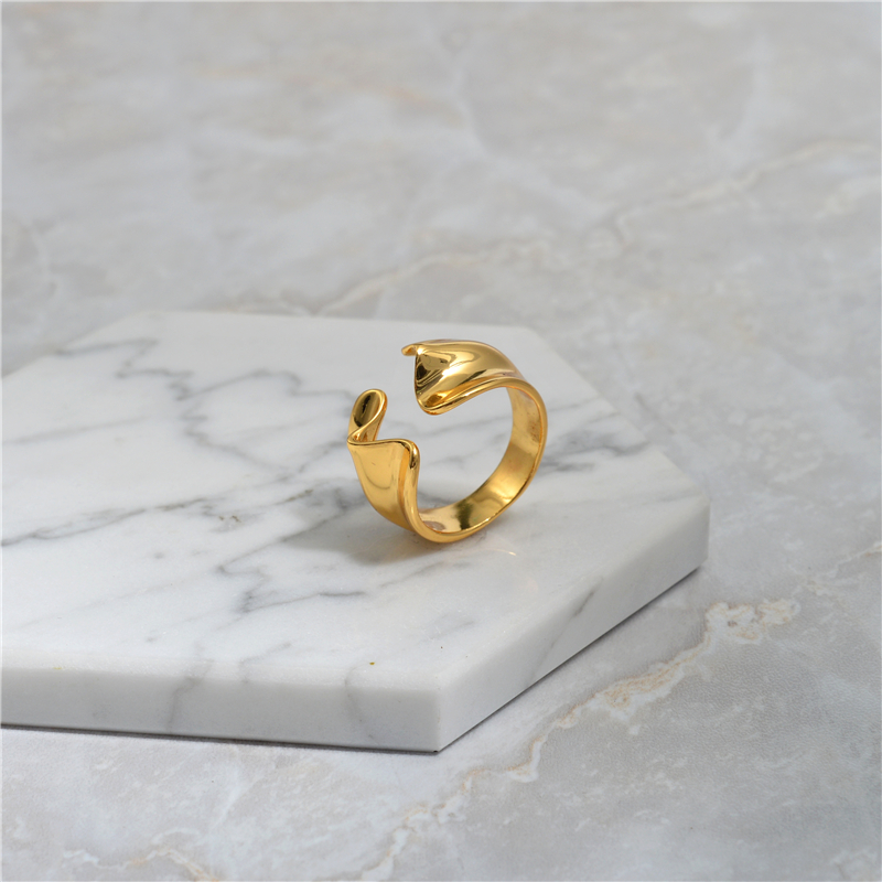 Simple Gold Color Geometric Ring For Women Big Large Openning Finger Rings For Women Fashion Jewelry