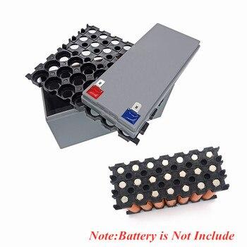 Caja de almacenamiento para batería de litio 3S7P 11,1 V 12,6 V, caja de plástico especial eléctrico 18650, verde, gris, amarillo, con soporte para metralla 1