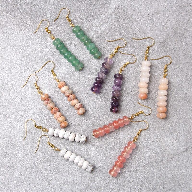 Chakra Natural Stone Earrings
