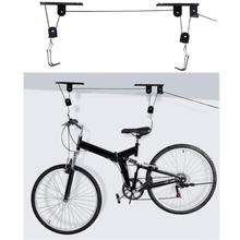 45 фунтов сильный для велосипеда велосипедный подъемник потолок монтируется подъем хранения гаражный с крючками, стеллажи для хранения, Металлические Подъемные модули стены