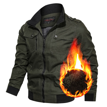Men Bomber Jacket 2020 Winter Military Therm Casual Mens Thick Fleece Army Tactical Coat Fur Collar Windbreaker Jackets Clothing thick fur collar boys girls leather jacket for autumn winter kids warm fleece stylish coat bomber kids jacket toddler girl