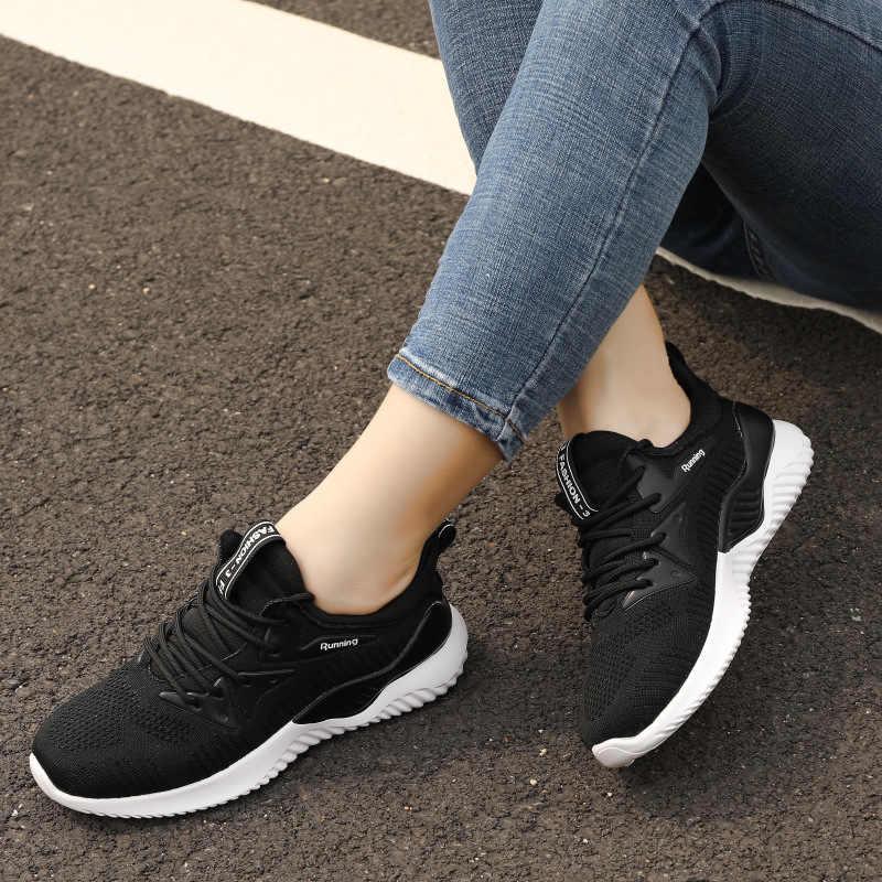 HKXN Для женщин на не сужающемся книзу массивном; кроссовки на высокой платформе; изящная женская обувь на толстой подошве, Повседневное обувь с подошвой из вулканизированной резины знаменитости папа женские модные кро