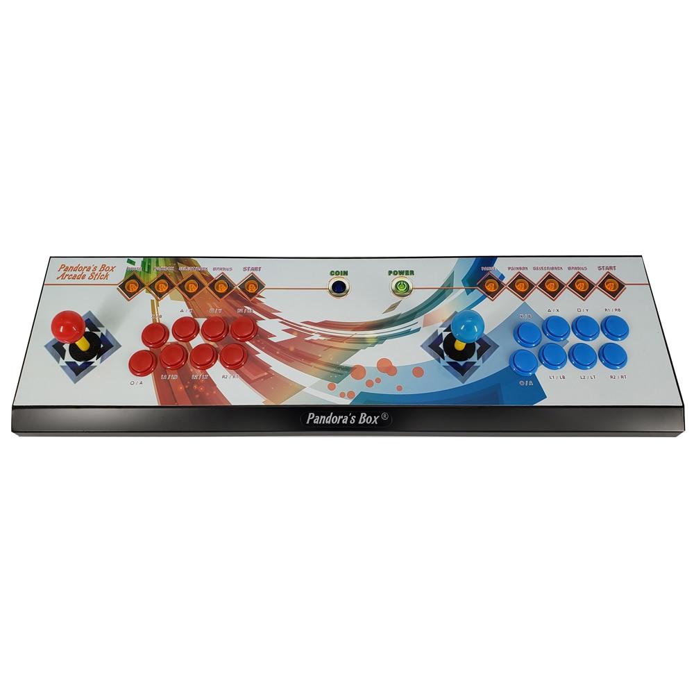 Il Vaso di Pandora 6 8 Pulsante di Arcade Console 1300 in 1 in Grado di Aggiungere 3000 Giochi di 2 Giocatori Hdmi Vga Usb joystick per Pc Video Game Ps3 Tv - 5