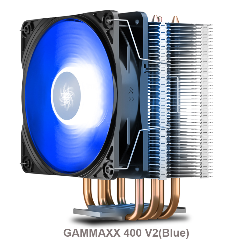 DEEPCOOL GAMMAXX 400 <font><b>CPU</b></font> cooling fan 12cm PWM LED, RGB, ARGB fan, For 115x 2011 1366 <font><b>AMD</b></font> AM4 <font><b>AM3</b></font> slot image