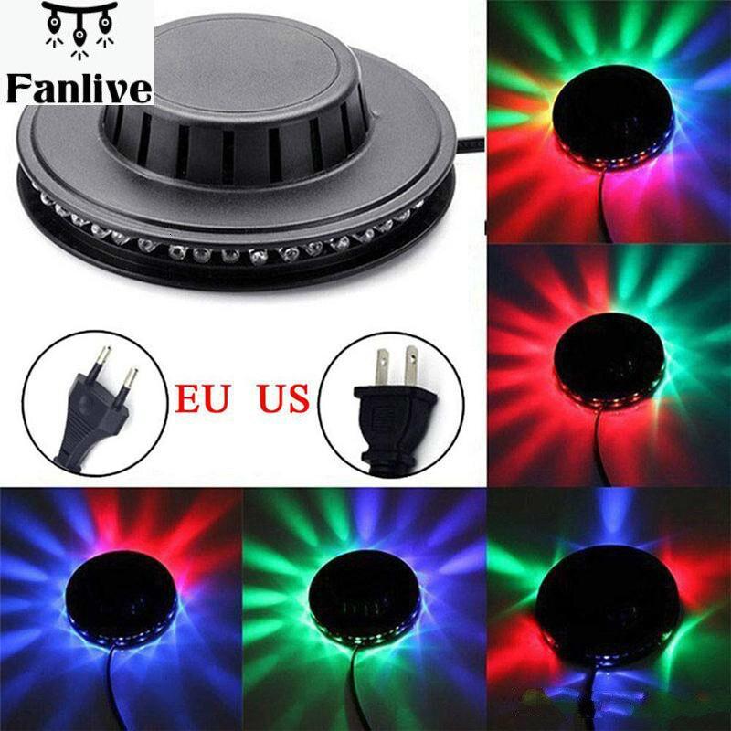 UFO Laser Bühne Lichter Sunflower RGB 48 LED Sound Aktiviert Projektor Beleuchtung Wand Lampe Für KTV DJ Party Hochzeit