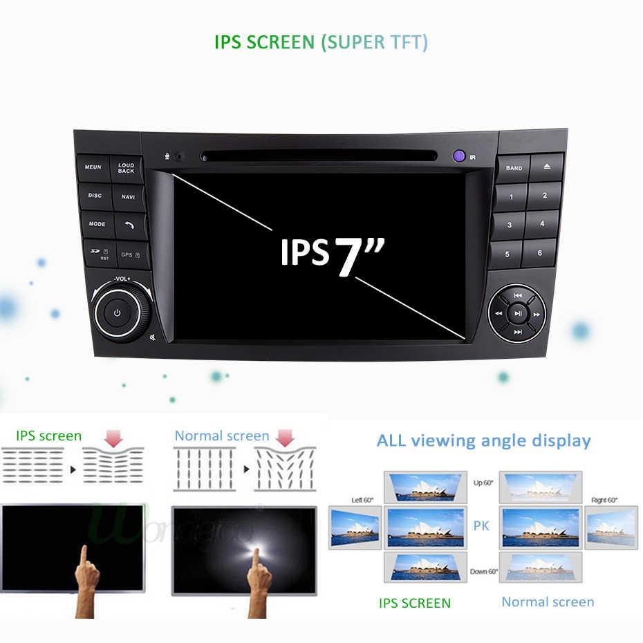 Android 9.0 DSP IPS 64G Radio Đồng Hồ Định Vị GPS Cho Xe Mercedes Benz E Cấp W211 E200 E220 E300 E350 e240 E270 E280 CLS Lớp W219 2 DIN DVD