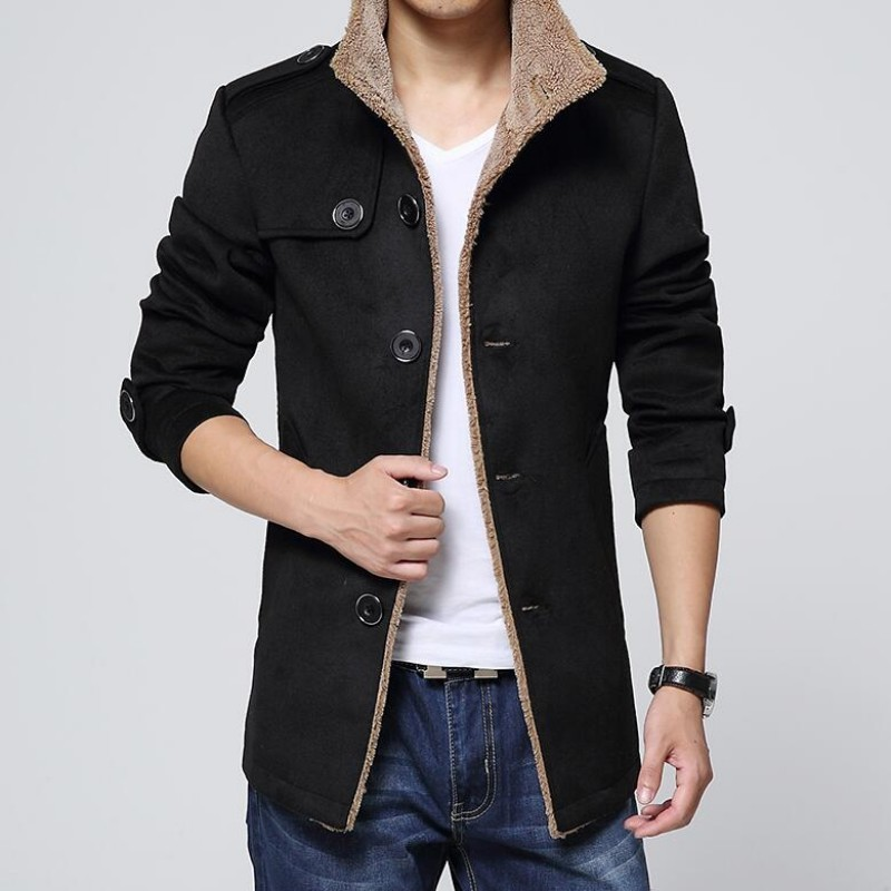 2020 Winter New Fashion Mens coats wool peacoat Slim Winter Trench coat parka Overcoat Clothes Size M-4XL Free Shipping