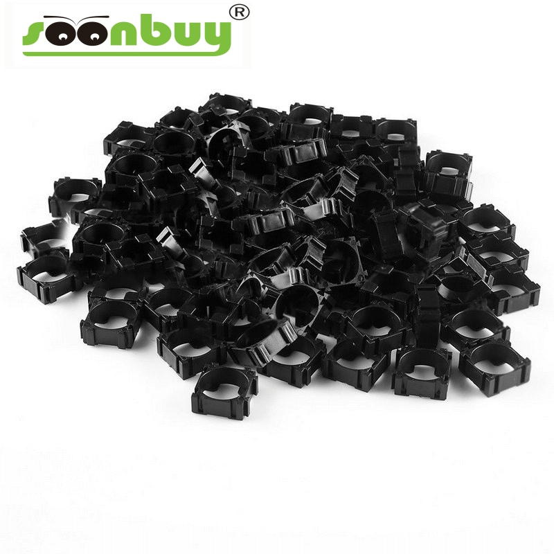 Soonbuy 100pcs 18650 Battery Cell Holder Safety Spacer Radiating Shell Mayitr Storage Bracket Suitable For 1x18650 Battery