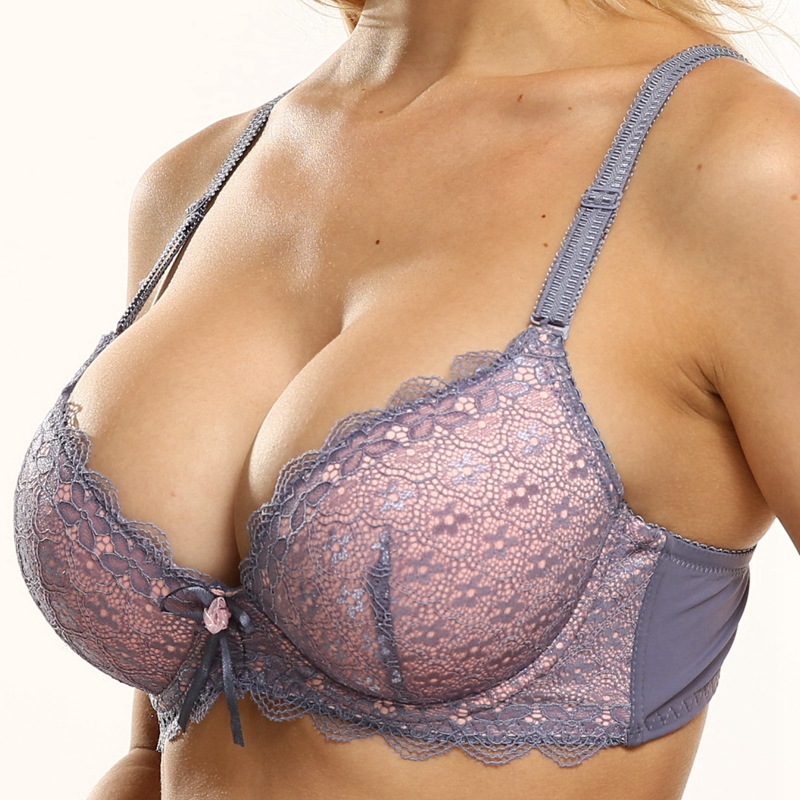 Push Up Bra Padded Plus Size Embroidered
