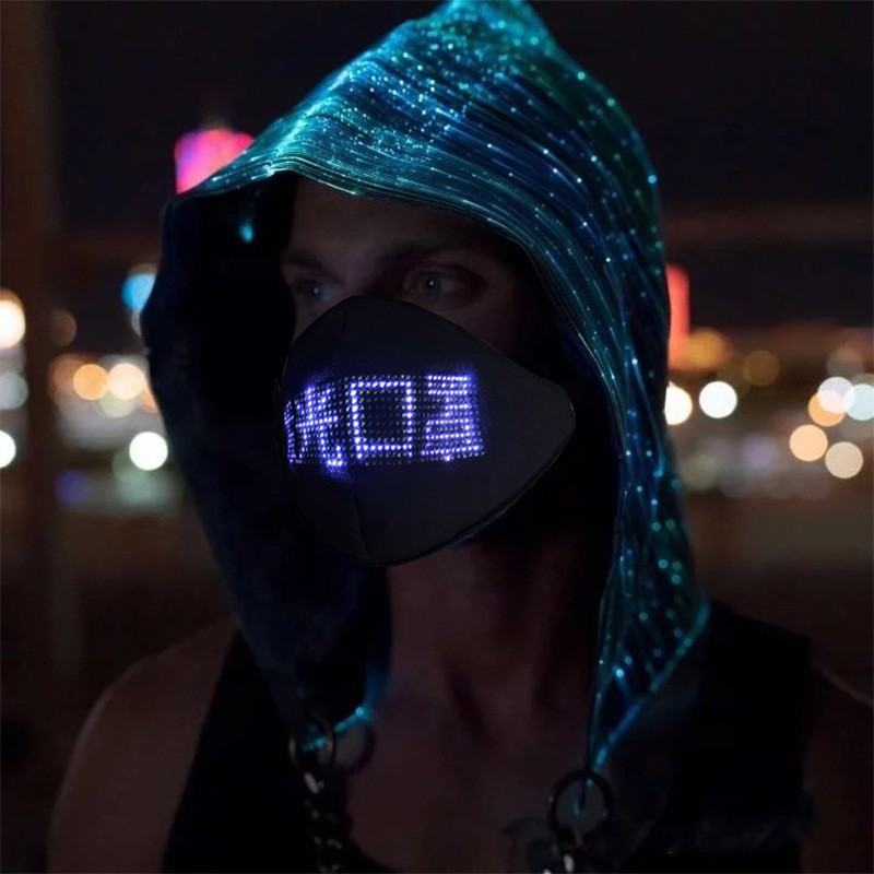 LED Luminous Mask Mobile Phone APP Edit Pattern Text Bungee Advertising Display Masks Module Matrix Programmable Christmas Gift 4