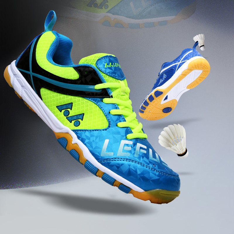 Spring Badminton Shoes For Men Cow Muscle Sport Shoes Woman Leather Badminton Shoes Women Anti-Slippery Men's Shoes Badminton