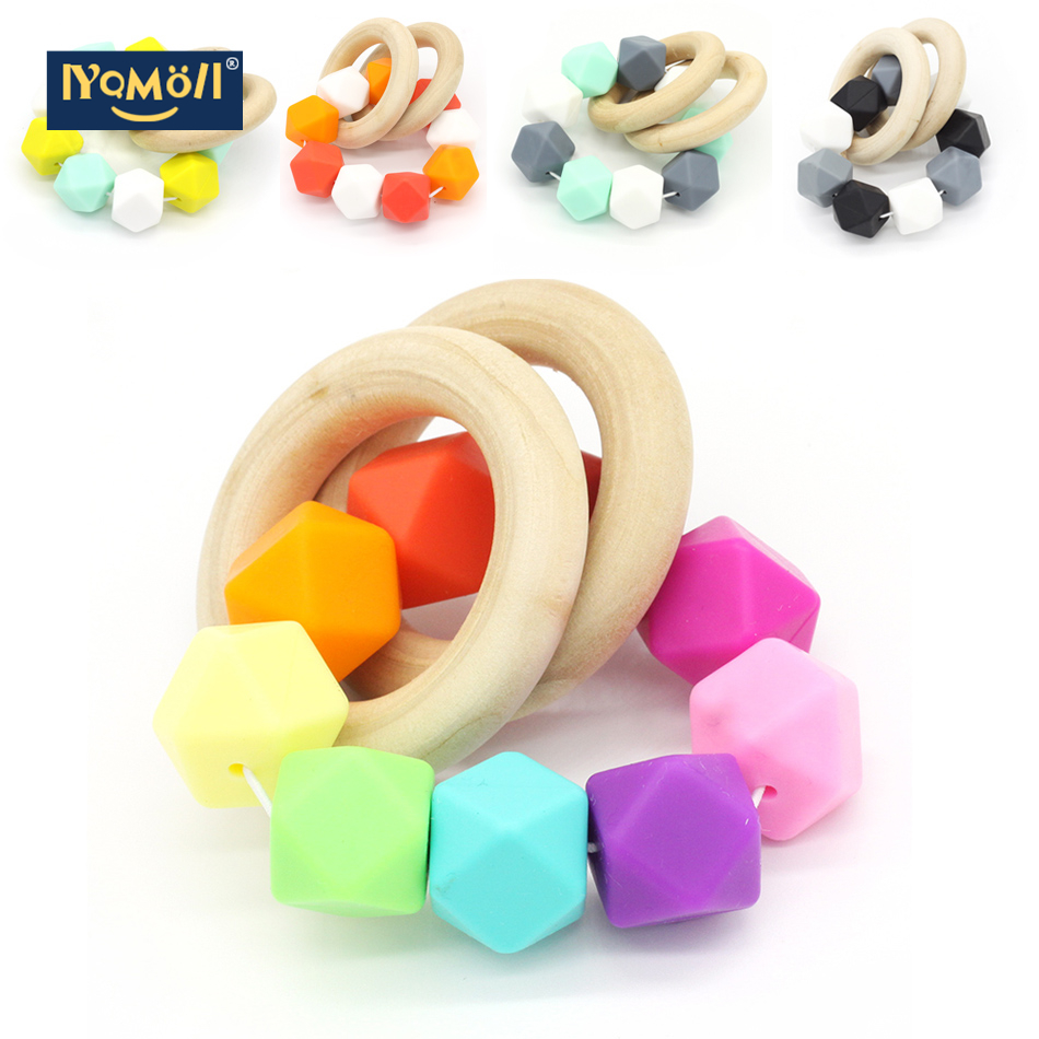 Baby Teether Pacifier Clip Tropical Infant Teether Bright Toy Baby Toys Teething Toys Wooden Teether Teething Rings Natural Toy