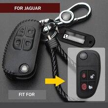 1 adet hakiki deri araba akıllı uzaktan anahtar Fob kapak kılıf kapak tutucu cilt satmak Jaguar x tipi için S tipi XJ8 şekillendirici Accessorial
