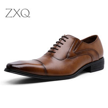 39-45 Mens Formal Cow Leather Men Shoes Stylish Business Gentleman's Comfortable Pointed Toe Derby Shoes Men