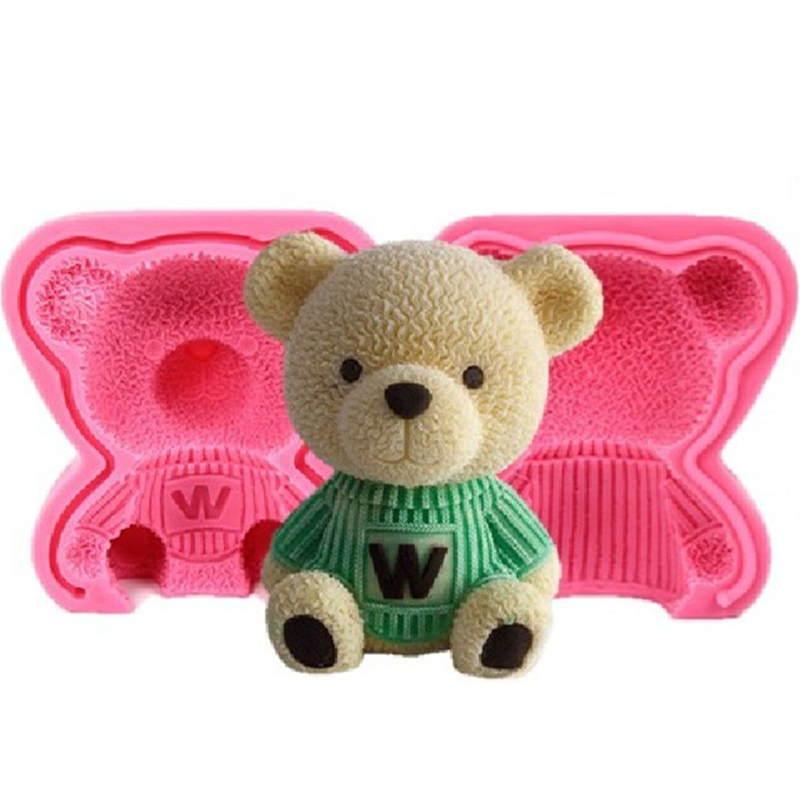 3D Bear Silicone Cake Mold Silicone Fondant Mold 3D Cupcake Jelly Candy Chocolate Decoration Baking Tool Moulds K641|Cake Molds| |  - title=
