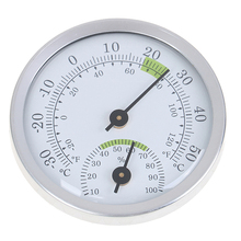 1PC New Wall Mounted Household Analog Thermometer & Hygrometer For Sauna Room Household