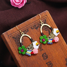 The new 2019 China wind restoring ancient ways  woven fashion earrings jewelry