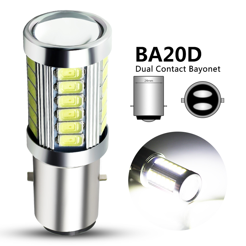 1x H6 BA20D LED Motorcycle Headlight Bulb Hi/Lo Beam Motorbike BA20D Led Scooter ATV Light H6 Motor Light Headlamp DRL Lights