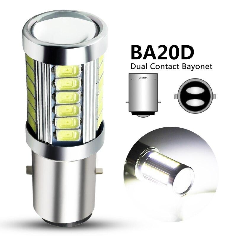 1x H6 BA20D LED Motorcycle Headlight Bulb Hi/Lo Beam Motorbike BA20D Led Scooter ATV Light H6 Motor Light Headlamp DRL Lights