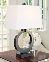 Fabric lampshade modern minimalist iron table lamp for Nordic bedroom living room balcony corridor LED table lamp