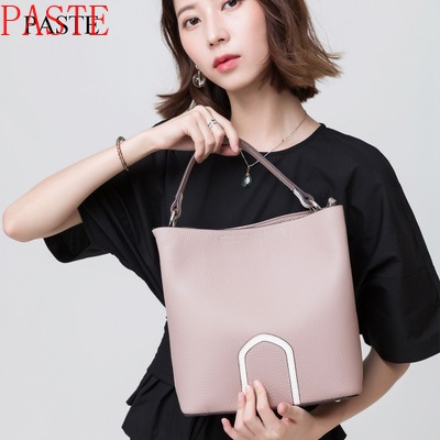 2017 Best Genuine Leather Women Handbags Spring Female Shoulder Bag Fashion Ladies Totes Big Brand Ipad Pink Crossbody Bag