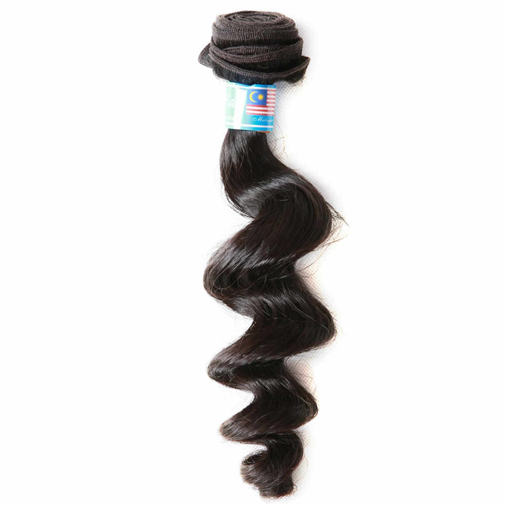 "Mayflower hair 1/2/3/4 bundle 100% Unprocessed Malaysian Loose wave virgin hair Natural color 12""-24"" mixed length Free shipping"