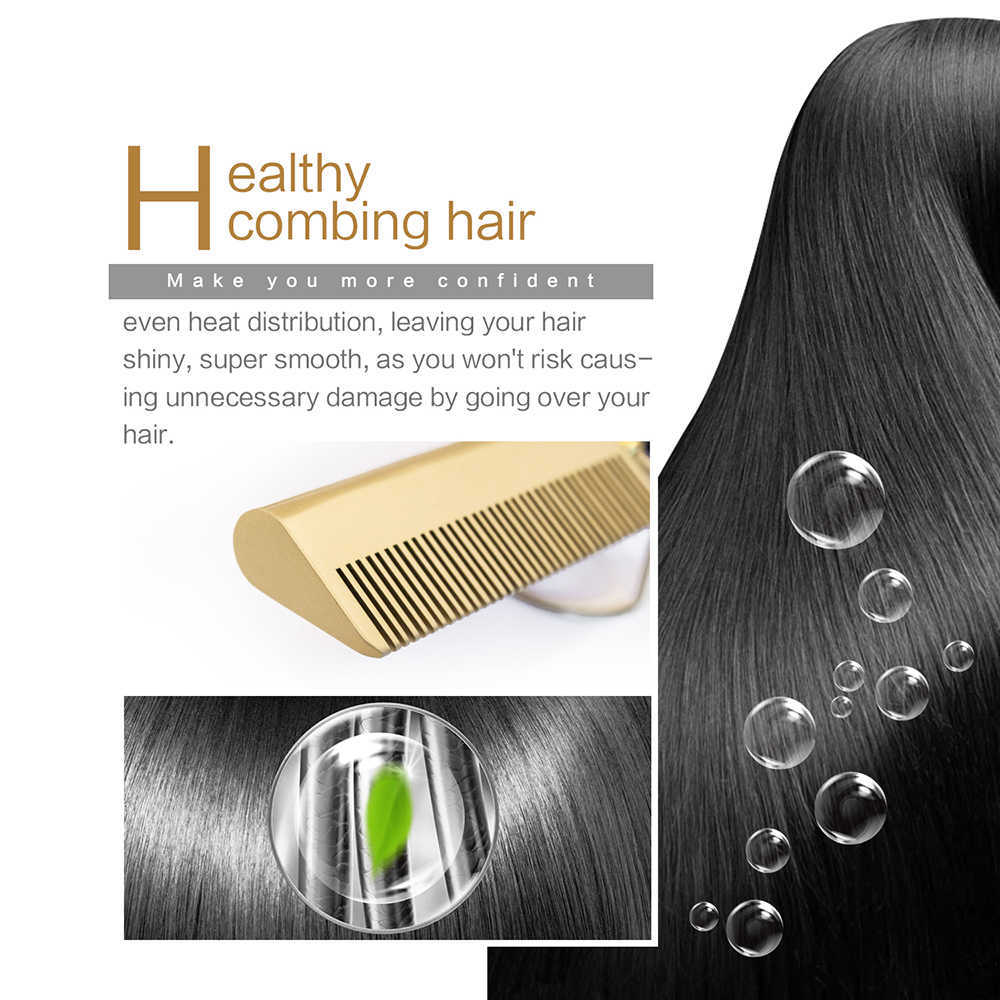 Saç düzleştirici düz ütüler doğrultma fırçası sıcak isıtma tarak saç düz şekillendirici oluklu bukle makinesi saç bigudi tarak