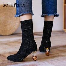 Sophitina женские ботинки черного цвета в сдержанном стиле;