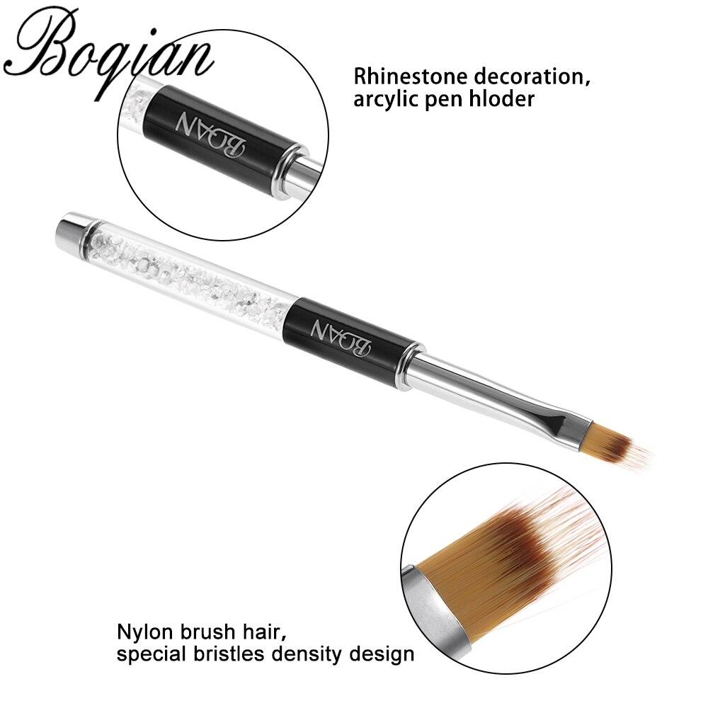 Кисть для маникюра с эффектом омбре BQAN, ручка для рисования, кисть для рисования с градиентом, черный цвет, рандомные инструменты
