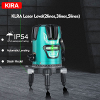 KIRA 2 3 5 Green Line Laser Level 360 Rotary Vertical & Horizontal Cross Laser Line Construction Tools High Visibility