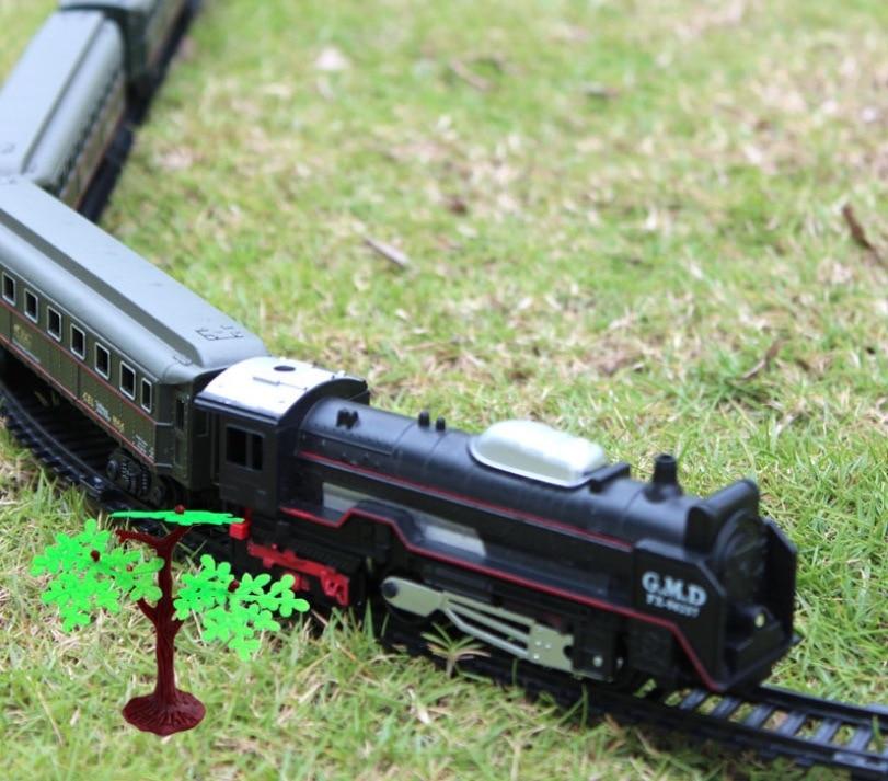 Classical Train Super Long Track Retro Steam Machine Electric Track Small Train Set Puzzle Toy Gift For Children